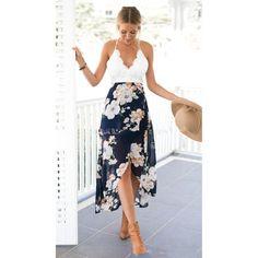 Sexy print lace summer strap deep v neck high waist beach dresses – Bestseller Outlets