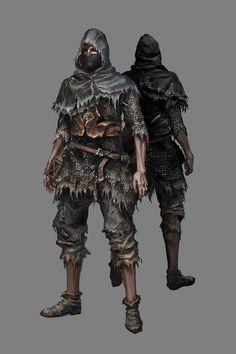 the concept art for the new starting classes in Dark Souls 3 High Fantasy, Fantasy Rpg, Medieval Fantasy, Dark Souls 2, Dark Souls Armor, Fantasy Inspiration, Character Inspiration, Character Portraits, Character Art
