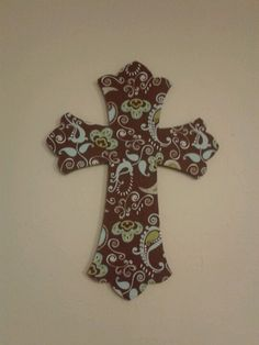 Pinner said: This is the DIY wall cross I made for Gabby's ...