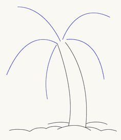 How to Draw a Palm Tree | Easy Drawing Guides Palm Tree Drawing Easy, Coconut Tree Drawing, Tree Painting Easy, Shell Painting, Daisy Painting, Rock Painting Ideas Easy, Palm Tree Leaves, Palm Trees, Art Centers