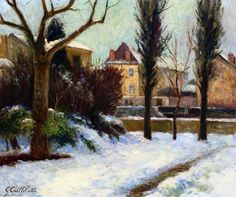 The Athenaeum - Winter Landscape (Gustave Caillebotte - ) Beaux Arts Paris, Gustave Courbet, Impressionist Artists, Winter Landscape, French Art, Love Art, Art Day, Great Artists, Painting