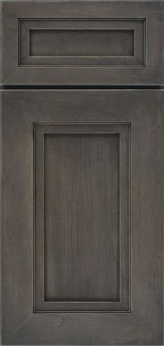 Loring cabinet door style is modern with a mitered moulded frame and reverse raised panel, available in various wood types.
