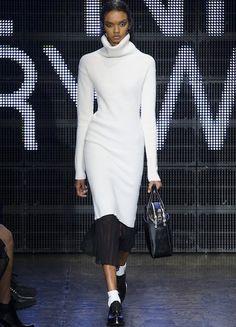 DKNY abito lana bianco per inverno