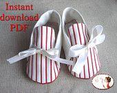 PDF Sewing Pattern Kimono Baby Shoes DIY by LenasShoePatterns