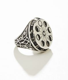 MOONPHASE OVERSIZED SIGNET RING Silver Plated