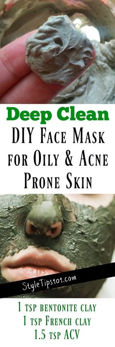 Homemade Deep Clean Face Mask for Oily & Acne Prone Skin