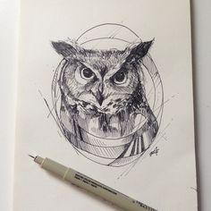 Owl Ink © Alfred Basha