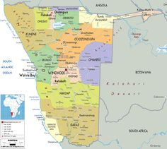 Detailed large political map of Gambia showing names of capital