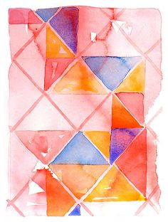 Abstract Art / Watercolor Abstract Art Print by WatercolorByMuren