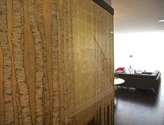 Japanese birch trees. Two oversize eglomise panels by Simes Studios