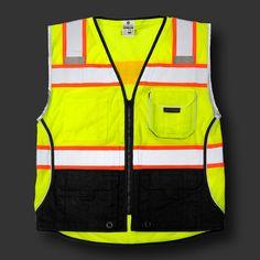 Black Series Black Bottom Vest|Mesh vests|Class 2 vest|Mesh vest|Safety vest