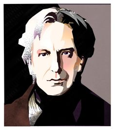 """Alan Rickman - R.I.P."" by theamaia ❤ liked on Polyvore featuring art"
