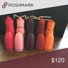 All five!!!!!!! Mac inspired lipstick!!! Mac cosmetics INSPIRED!!!! GiaMBattista Valli Colors include: margarita, Eugene, tats, Charlotte, Bianca B. Will ship same or next day. BRAND NEW! Makeup Lipstick