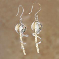 Windy Grass Earrings handmade by Garden of Silver www.gardenofsilver.com