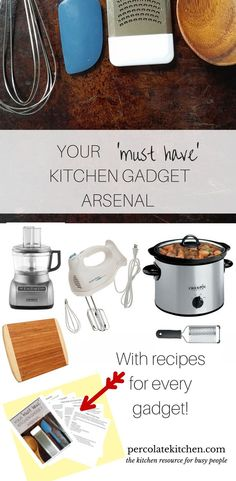 How stocked is your kitchen arsenal? I& talking about those essential, must-have products and gadgets in your kitchen. You& never guess which of these was the best bang for your buck! Cooking Gadgets, Cooking Tips, Cooking Recipes, Cooking Videos, Cooking Utensils, Sweets Recipes, Diet Recipes, Must Have Kitchen Gadgets, Kitchen Hacks