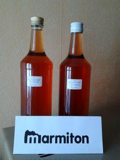 APERITIF AU VIN D'ORANGE (2,5 l de rosé (type Touraine), 1/2 l d'eau de vie de fruits à 40°, 500 g de sucre, 1/2 gousse de vanille, 4 oranges non traitées, 1 citron, 2 clous de girofle, muscade et cannelle selon les goûts)