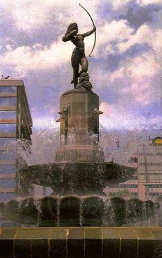 Famosas Fuentes del mundo - La Diana Cazadora-Ciudad de Mexico.