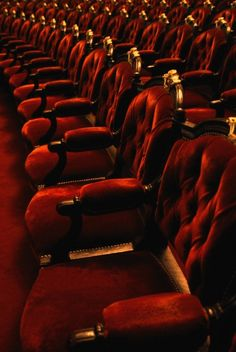red velvet opera chairs