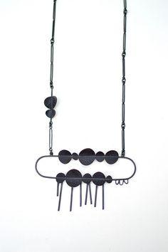 :: Black - Sterling Silver Pendant - Oxidized ::