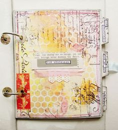 czekoczyna: art journal {loving her use of the honeycomb in this cover.}