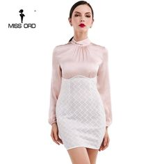 2af3937b9dd Missord 2018 Sexy Long Sleeve High-necked dress FT4740. Yesterday s price   US  31.66 (27.86 EUR). Today s price  US  17.41 (15.52 EUR). Discount  45%.