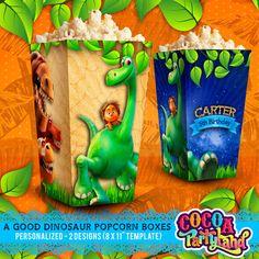 A Good Dinosaur Digital Personalized Popcorn Box