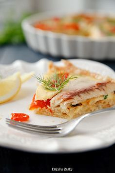 Smoked trout and grilled bell pepper quiche