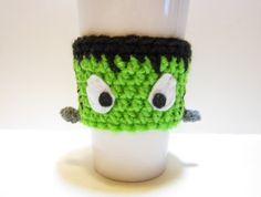 Frankenstein's Monster Mug Cozy Crochet Coffee by MadebyJody666