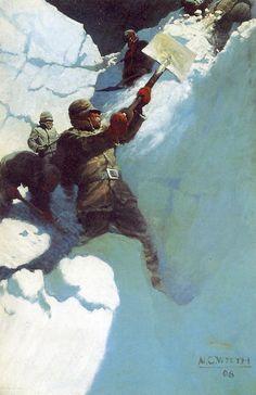 """N.C. Wyeth, """"From An Upper Snow Platform"""" 1906"""