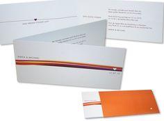 Hochzeitseinladung - Reise des Herzens mit coolem Einsteck-Kuvert