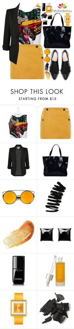 """""""Geometric Handbag by Bao Bao!"""" by nvoyce ❤ liked on Polyvore featuring STELLA McCARTNEY, Topshop, Pilot, Bao Bao by Issey Miyake, LOOKY, Bobbi Brown Cosmetics, Witchery, Chanel, rms beauty and Appetime"""