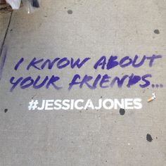Seen on the streets near New York Comic Con.  #nycc #newyorkcomiccon #comiccon #nycomiccon #nycc15 #nycc2015 #jessicajones #iknowaboutyourfriends