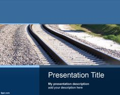 Free aircraft powerpoint template free powerpoint templates this is a free transport powerpoint template with train rail image in the master slide design toneelgroepblik Image collections