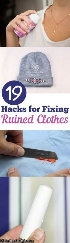 Pin Collection: 10 hacks for fixing ruined clothes that will make your life easy