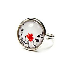 Poppy Dream Ring Silver now featured on Fab.