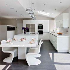 Open-plan zoned family kitchen | Family kitchen design ideas | Decorating | housetohome.co.uk