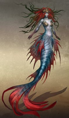 She Creature Mermaid | Artwork of the Heroes VI mermaid, another neutral elite creature once ...