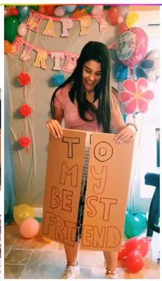 Diy Birthday Gifts For Friends, Diy Best Friend Gifts, Birthday Gifts For Boyfriend Diy, Online Birthday Gifts, Cute Gifts For Friends, Creative Birthday Gifts, Handmade Birthday Gifts, Cute Birthday Gift, Happy Birthday Gifts