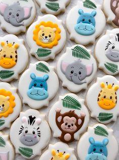Zebra Cookies, Baby Boy Cookies, Farm Cookies, Cookies For Kids, Cute Cookies, Royal Icing Cookies, Baby Shower Sweets, Baby Shower Cookies, Ideas Bautismo