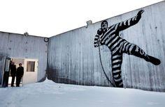 by Dolk on Norwegian prison wall
