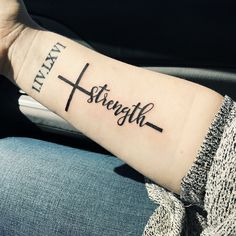My new Strength Cross tattoo. #TattooIdeasStrength