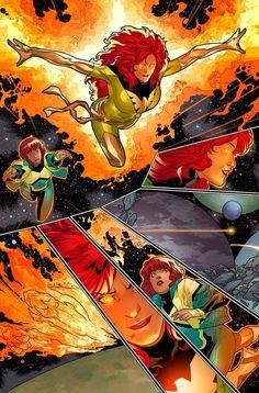Generations: Phoenix & Jean Grey- Your Look Comic Book Heroines, Comic Books Art, Comic Art, Jean Grey Phoenix, Dark Phoenix, Phoenix Force, Marvel Girls, Comics Girls, Marvel Women