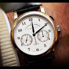 #WatchConnoisseur A.Lange & Sohne | Simple, clean, sharp love this timepiece