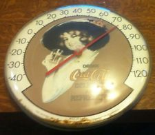 Vintage Round Coca Cola  Ohio Thermometer Co.