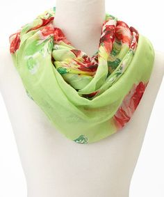 Look what I found on #zulily! Green Floral Infinity Scarf by Love, Kuza #zulilyfinds