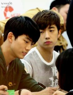 Taecyeon and Wooyoung.Look at Wooyoung's expression sooo cute hehe