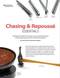 Chasing and Repousse essentials for jewelry making from Art Jewelry magazine