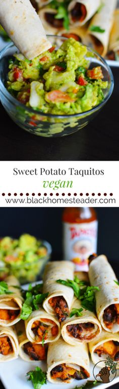 Yummy Vegan Sweet Potato Taquitos - Black Homesteader