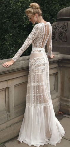 Lior Charchy NYC 2017 bridal long sleeves full embellishment bohemian retro  soft ruffled a-line wedding dress   Lior Charchy 2017 Wedding Dresses b99e8e936068