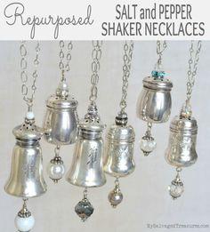 Repurposed Salt and Pepper Shaker Necklaces MySalvagedTreasures.com